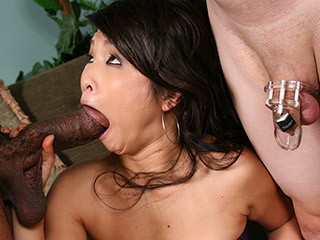 Cuckold 6 cuck records his asian gf getting fucked