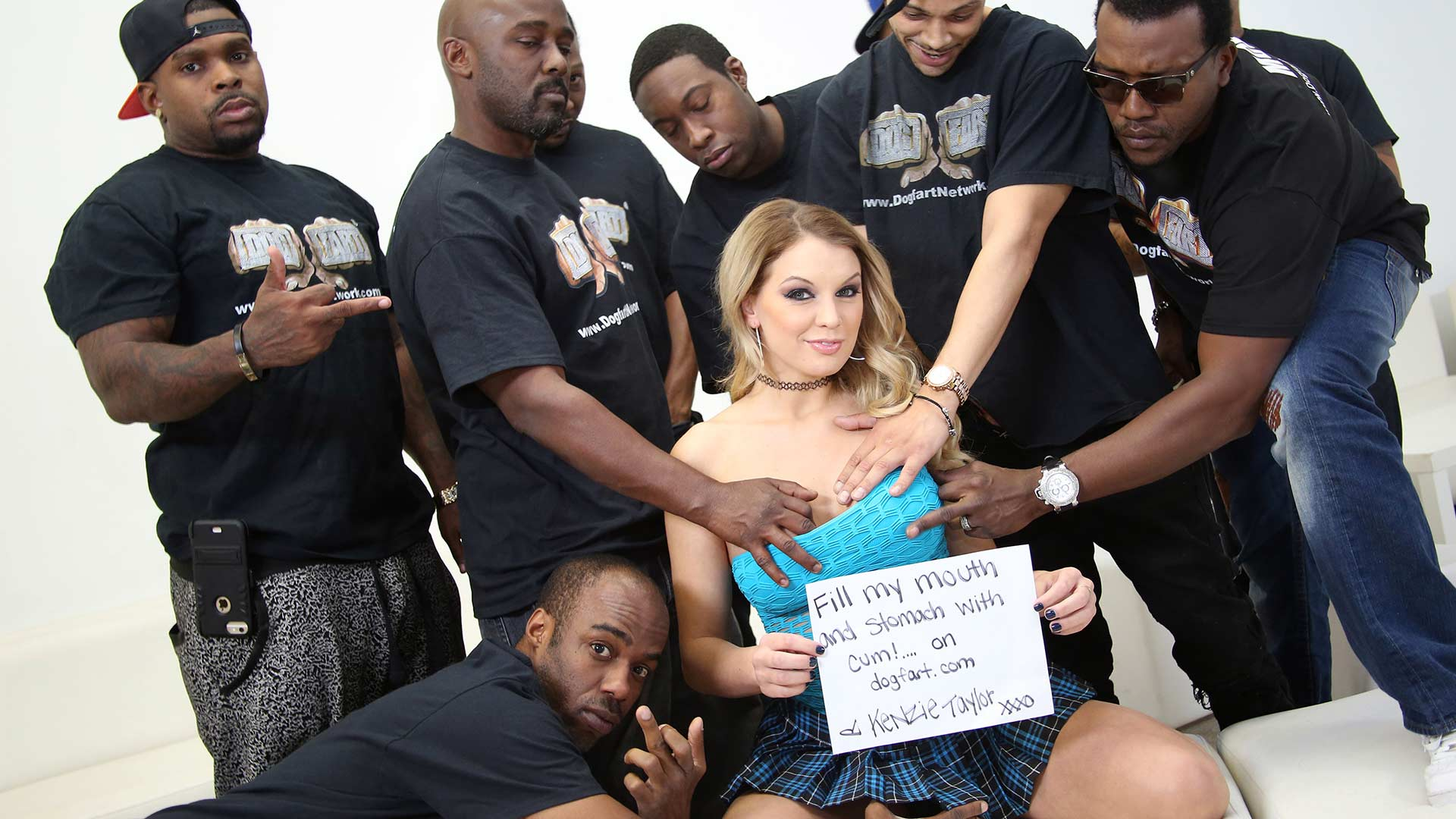 InterracialBlowbang Kenzie Taylor Interracial Porn