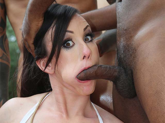 Jennifer White from InterracialBlowbang.com