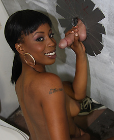 Ebony Michelle Malone In The GloryHole