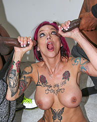 Anna Bell Peaks Interracial BlowBang