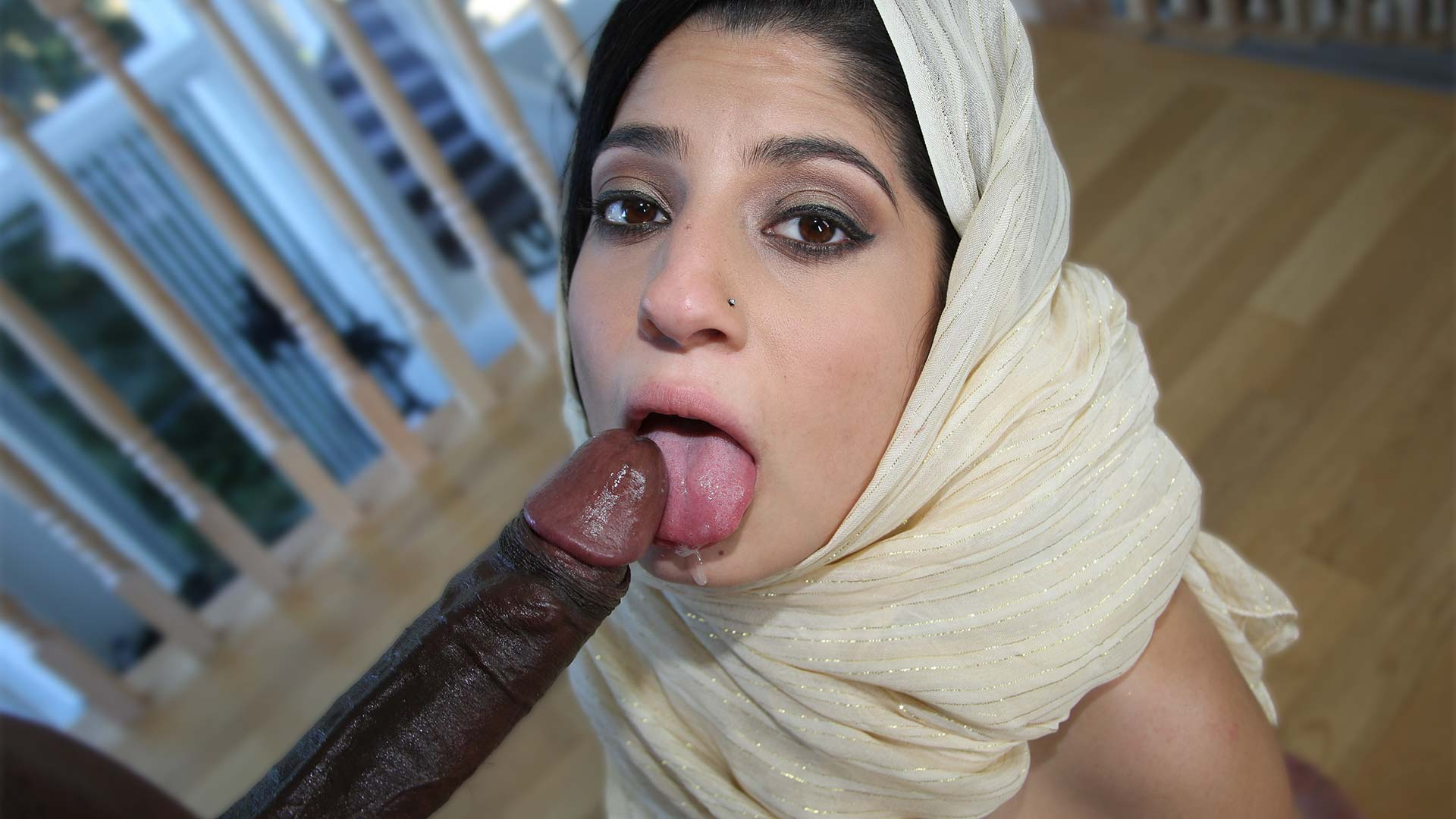 image Big tits arab chick bj and fuck