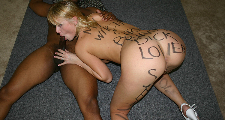 slut wife written on pictures