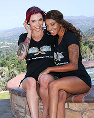 Anna Bell Peaks and September Reign Lesbian Interracial Sex