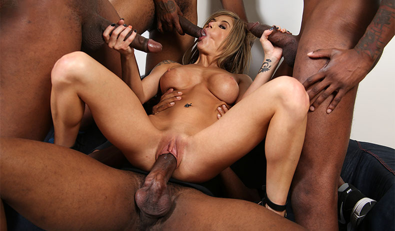 Big Black Dick Threesome Ebony
