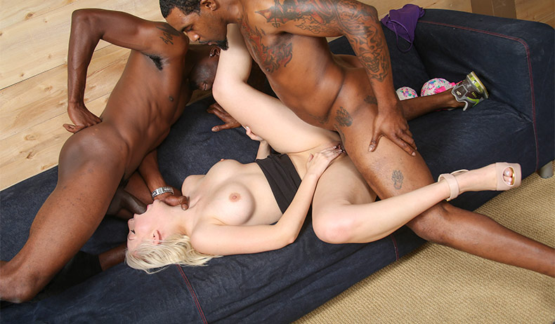 Abigaile johnson gets gangbanged by black cocks - 2 part 3