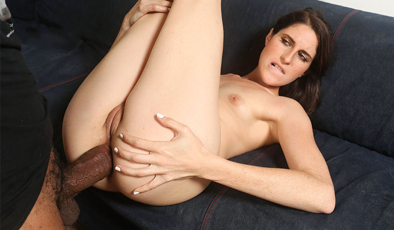 image White slut having fun with black cock